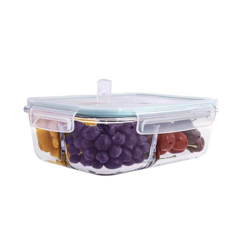Rebrilliant Glass Meal Prep 51 Oz Food Storage Container