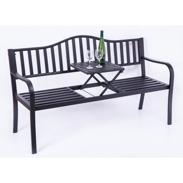 Dore Powder Coated Steel Park Bench by Alcott Hill Alcott Hill