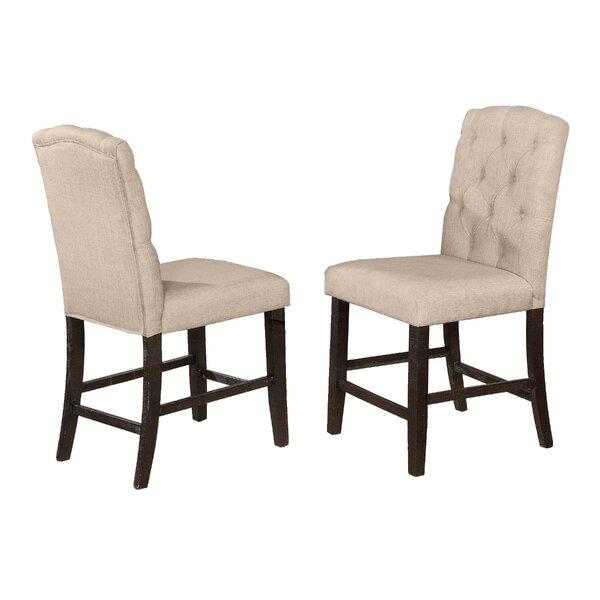 Greenlee Upholstered Counter Height Chair (Set of 2) by Gracie Oaks