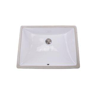 Reviews Nantucket Sinks Vitreous China Rectangular Undermount Bathroom Sink with Overflow ByNantucket Sinks