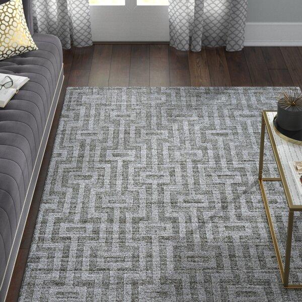 Damiane Hand-Loomed Gray Graphite Area Rug by Willa Arlo Interiors