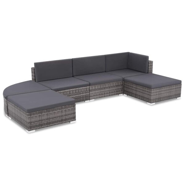 Thatcham Outdoor 6 Piece Sectional Seating Group with Cushions by Ivy Bronx