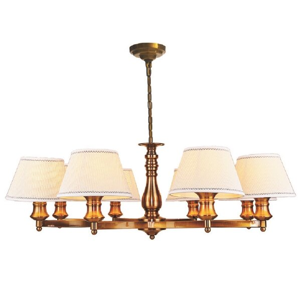 Oak Hill 8 - Light Shaded Wagon Wheel Chandelier by Charlton Home Charlton Home