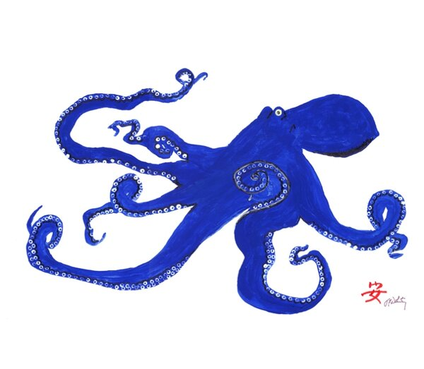 Octopus 18'' Placemat (Set of 4) by FishAye Trading Company