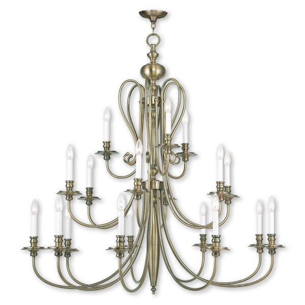 Echevarria 16 - Light Candle Style Tiered Chandelier by Darby Home Co Darby Home Co