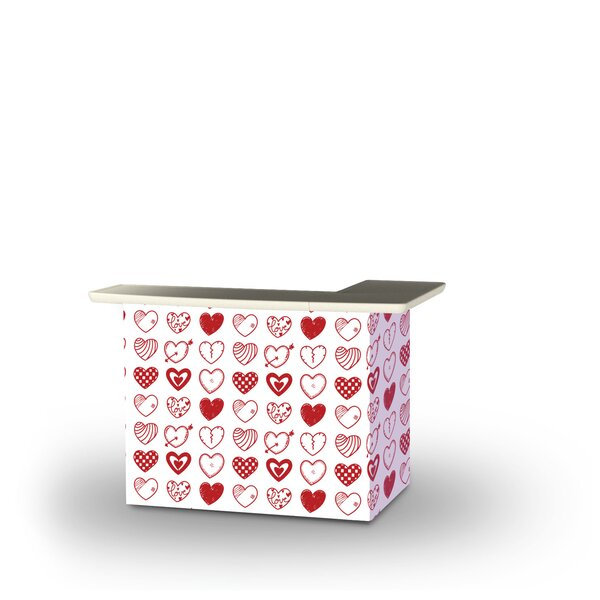 Zander Valentines Hearts Home Bar by East Urban Home