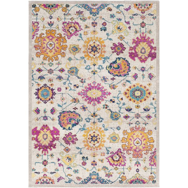 Lancaster Traditional Saffron/Fuschia Area Rug by Bloomsbury Market