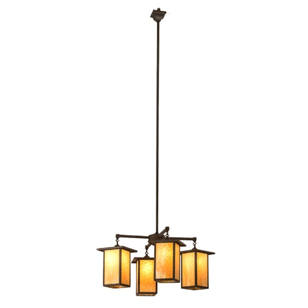 Filey 4 - Light Lantern Geometric Chandelier by Loon Peak Loon Peak