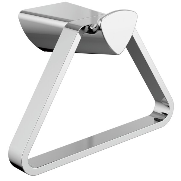 Zura Triangular Wall Mounted Towel Ring by Delta