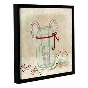 Candy Cane Framed Painting Print on Wrapped Canvas by The Holiday Aisle