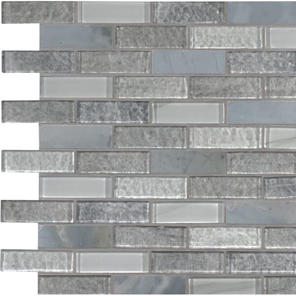 Lupano Glass/Stone Mosaic Tile in Gray by MSI