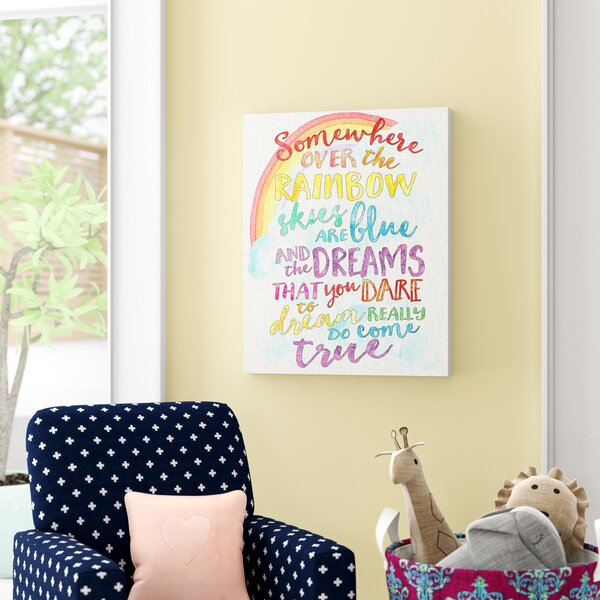 Kleckner Somewhere Over the Rainbow with Rainbow Canvas Wall Art by Zoomie Kids