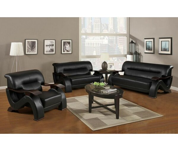 Elsa 3 Piece Living Room Set by Beverly Fine Furniture