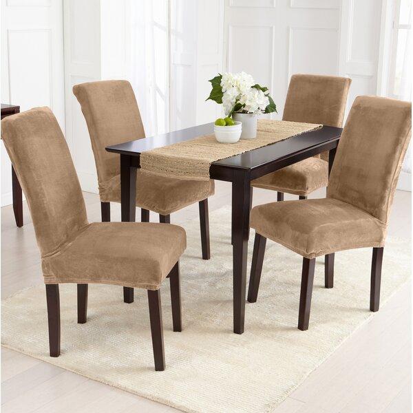 Velvet Plush Dining Chair Slipcover (Set of 2) by Canora Grey