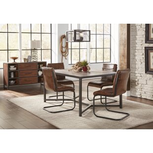 Danica Genuine Leather Upholstered Dining Chair (Set Of 2)