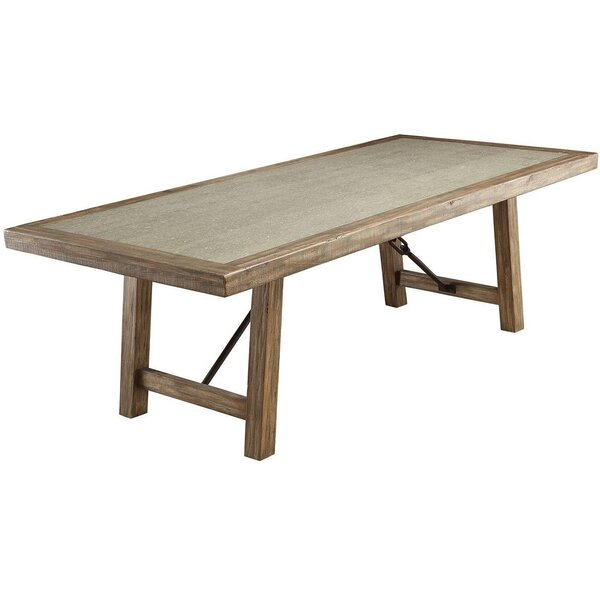 Barreras Solid Wood Dining Table By Ophelia & Co.