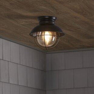 Compare prices Brookfield 1-Light Semi Flush Mount By Beachcrest Home