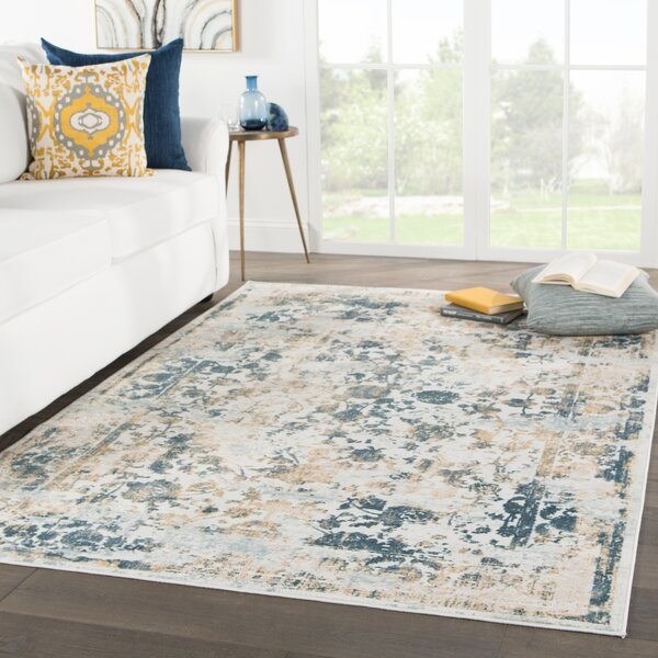 Doss Blue/Beige Area Rug by Bungalow Rose