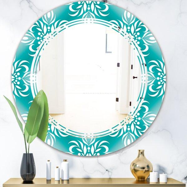 Triple C Pattern Cottage Americana Frameless Wall Mirror