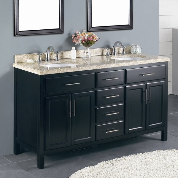 Milan 60 Double Bathroom Vanity Set by Ove Decors