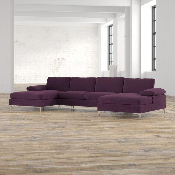 Marshburn 130.5-inch Symmetrical Sectional By Mercury Row