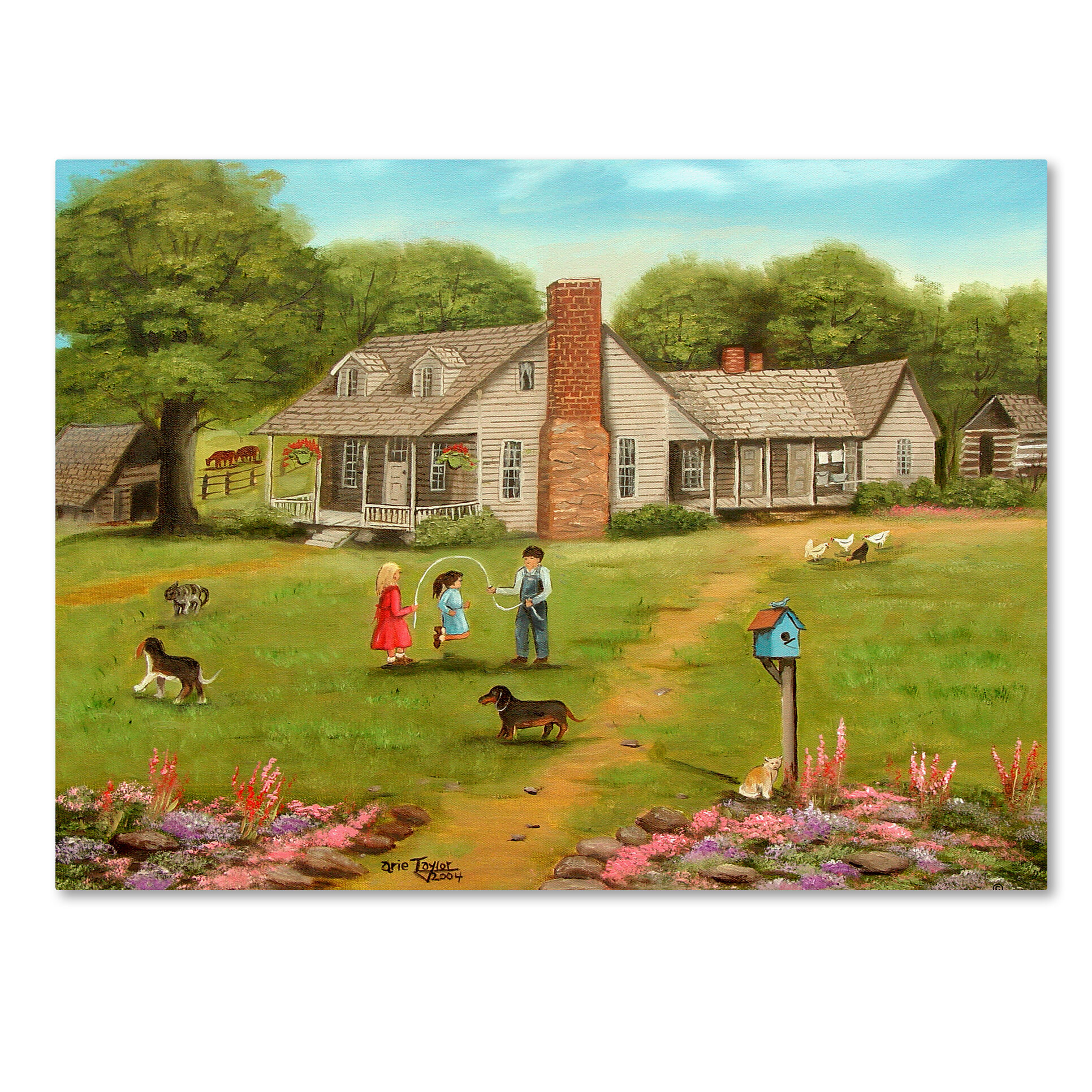Trademark Art \'Grandpa\'s House\' Print on Wrapped Canvas | Wayfair
