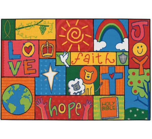 Emsley Inspirational Patchwork Kids Rug by Zoomie Kids