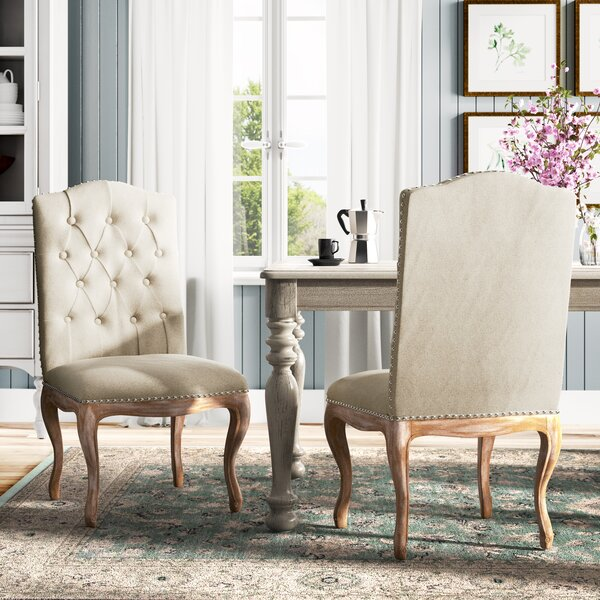 Bernadine Upholstered Dining Chair (Set of 2) by Lark Manor