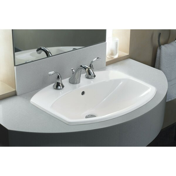 Cimarron® Ceramic Rectangular Drop-In Bathroom Sink with Overflow by Kohler