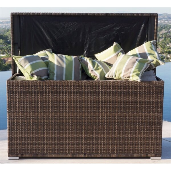 296 Gallon Wicker Deck Box by Moda Furnishings Moda Furnishings