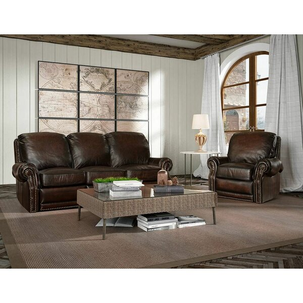 Timmie Leather Configurable Living Room Set by Canora Grey