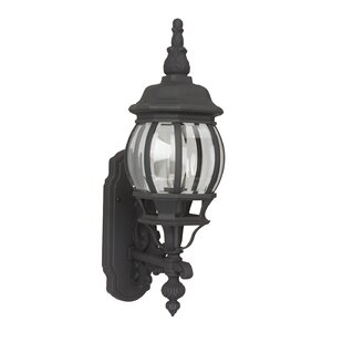 Compare prices Oakhill Traditional 1-Light Outdoor Sconce By Charlton Home