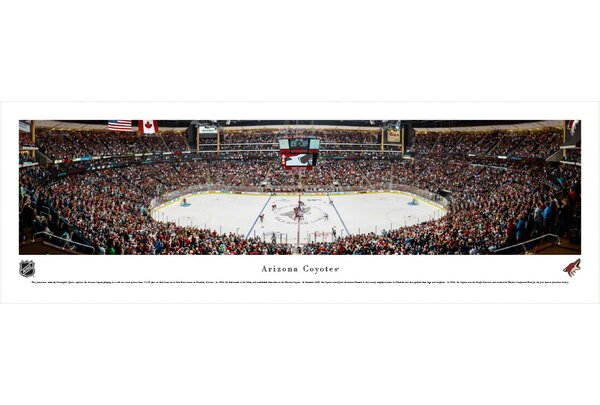 NHL Arizona Coyotes - Center Ice by Christopher Gjevre Photographic Print by Blakeway Worldwide Panoramas, Inc