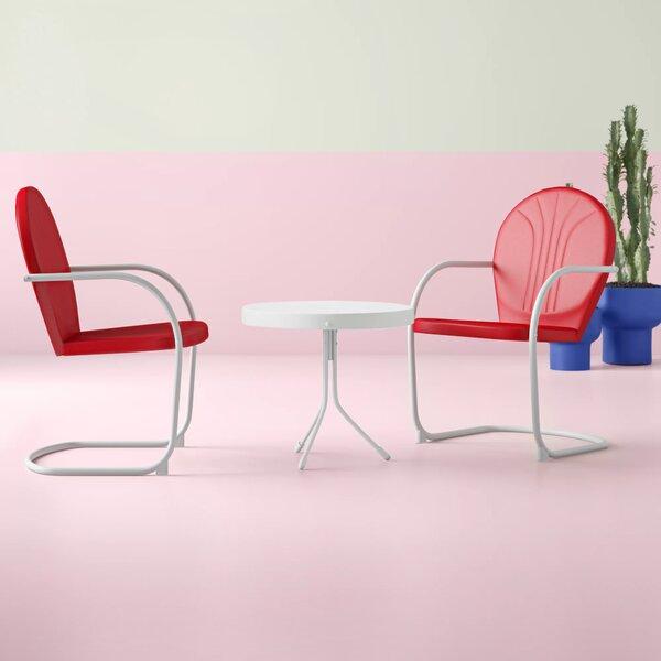 Karim 3 Piece Seating Group by Wrought Studio