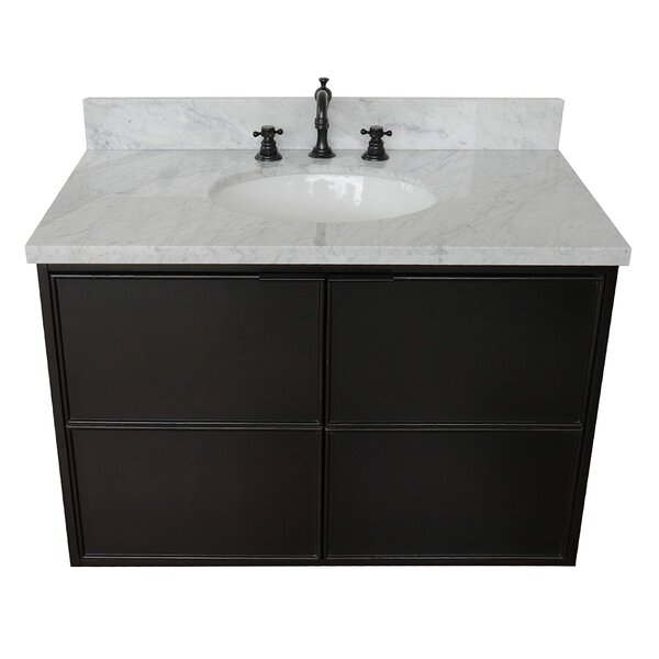 Elvia 37 Wall-Mounted Single Bathroom Vanity Set by Gracie Oaks