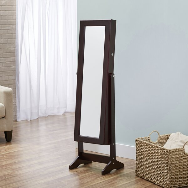 Cheval Free Standing Jewelry Armoire with Mirror by FirsTime
