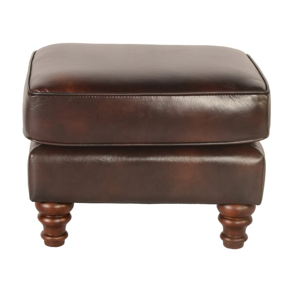 Tilsworth Leather Ottoman by Astoria Grand
