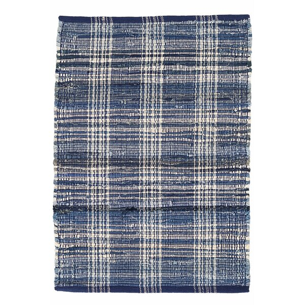 Plaid Cotton Denim Area Rug by Dash and Albert Rugs