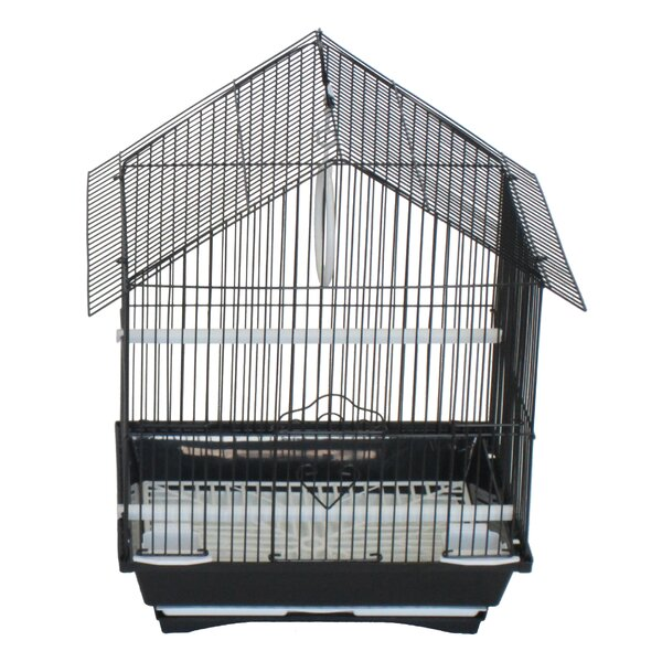Jepsen House Top Style Small Parakeet Cage With Food Access Doors by Tucker Murphy Pet