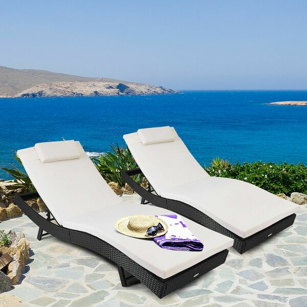 Thelen Reclining Chaise Lounge By Orren Ellis