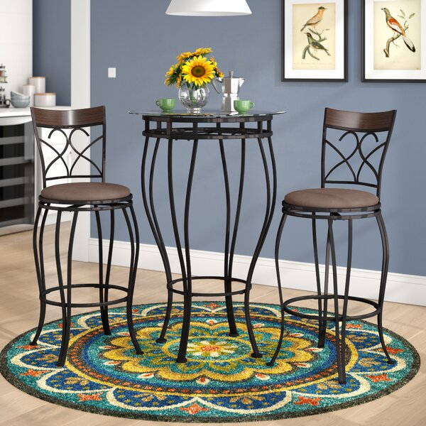 Northridge 3 Piece Dining Set by Alcott Hill Alcott Hill