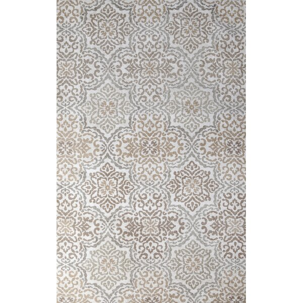 Ontario Hand-Woven Ivory/Loden Indoor Area Rug by Tuft & Loom