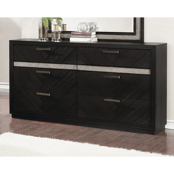 Dargan 6 Drawer Double Dresser by Everly Quinn