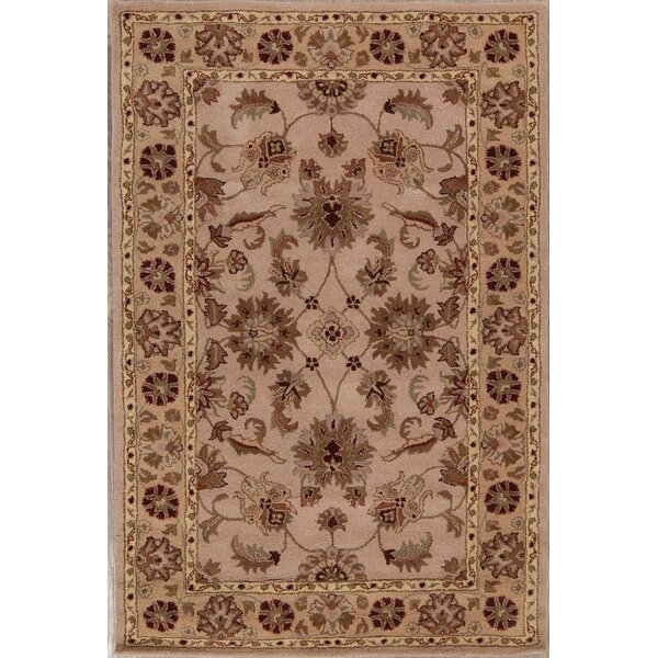 Bovill Agra Oriental Hand-Tufted Wool Brown/Ivory Area Rug by Canora Grey