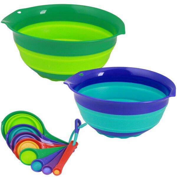 10 Piece Polypropylene Mixing Bowl Set by Squish