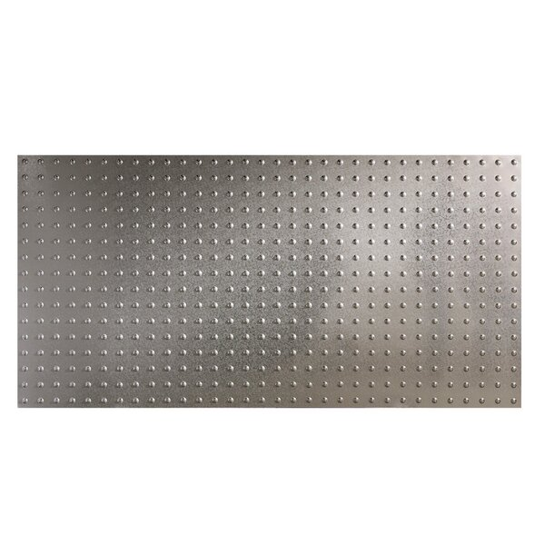 Dome 48 x 96 PVC Backsplash Panel in Galvanized Steel by Fasade