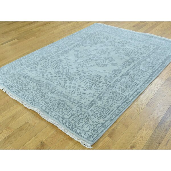 One-of-a-Kind Beare Handwoven Grey Wool Area Rug by Isabelline
