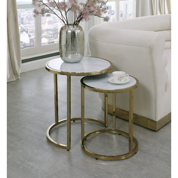 Jelissa 2 Piece Nesting Tables By Everly Quinn