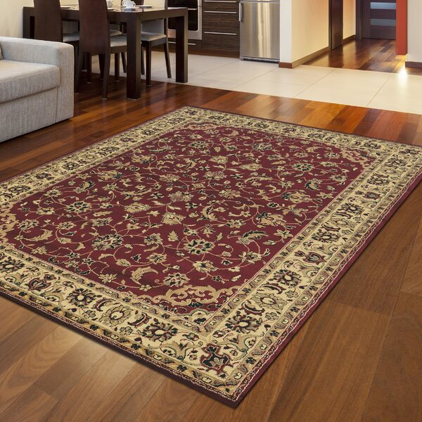 Safira Burgundy/Brown Area Rug by Astoria Grand