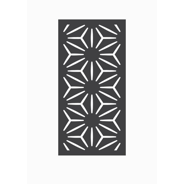 4 ft. H x 2 ft. W Star Anais Fence Panel by OUTDECO